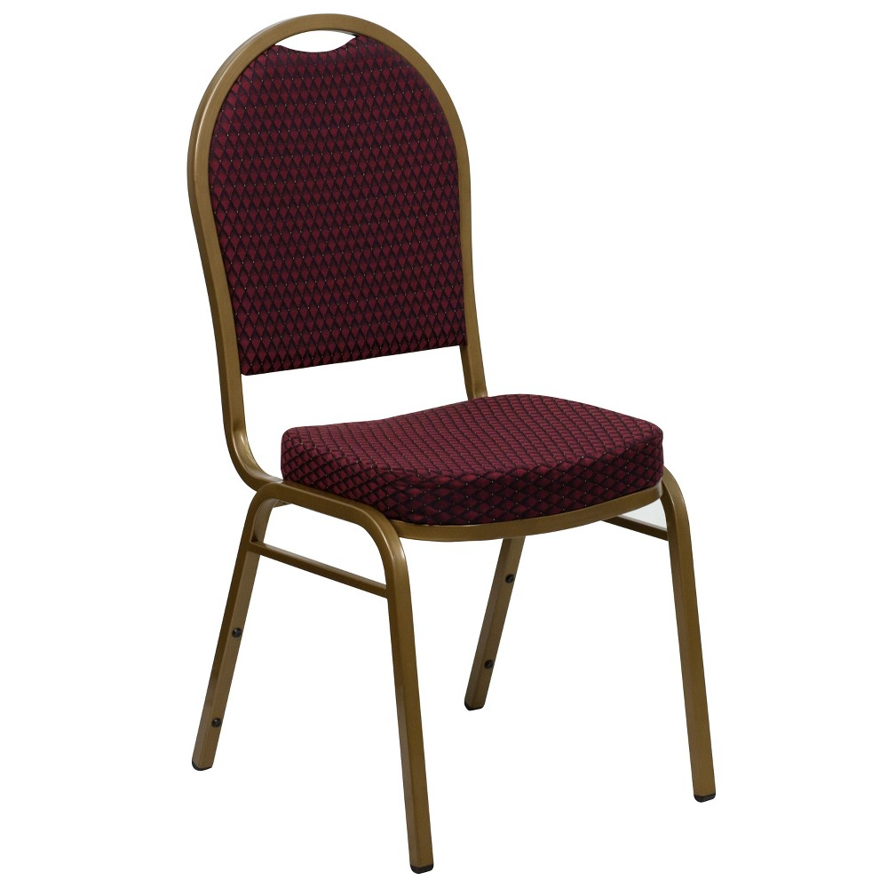 Riverstone Furniture Collection Fabric Banquet Chair Burgundy (Red)