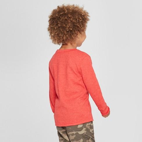 94295d1fe Toddler Boys  Thermal Long Sleeve T-Shirt - Cat   Jack™ Red   Target