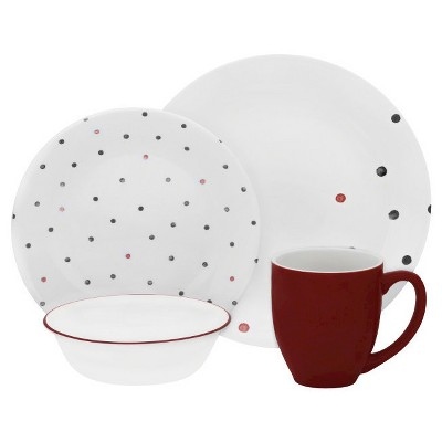 Corelle Vive 16pc Dinnerware Set Polka Dottie