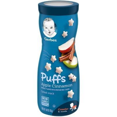 Gerber Puffs Apple Cinnamon Cereal Baby Snack - 1.48oz