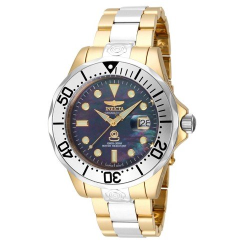 Men's Invicta Pro Diver 16034 Stainless Steel Automatic Three Hand Link Watch - Silver/Gold - image 1 of 1