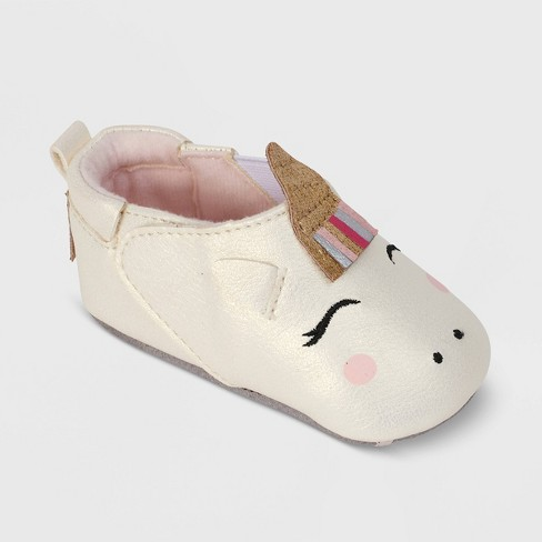 Ro+Me by Robeez Baby Girls' Unicorn Crib Shoes - image 1 of 4