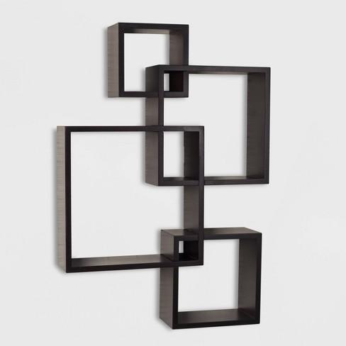 "25.5"" x 17.75"" Intersecting Cube Wall Shelf - Danya B. - image 1 of 4"