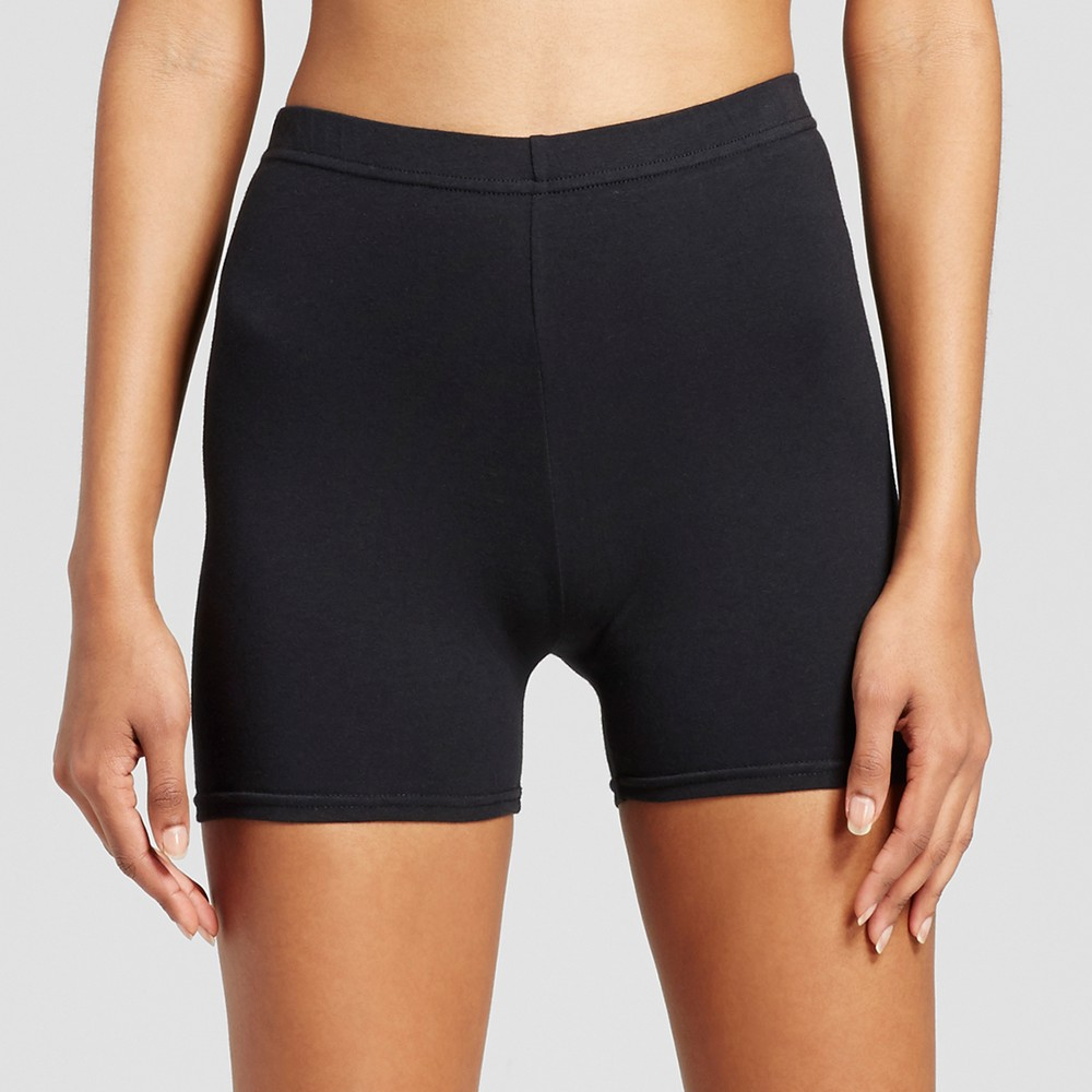 Women's Solid Jersey Biker Short - Xhilaration - Black M