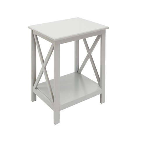Silverwood Alexa Square Accent Table Gray - image 1 of 3