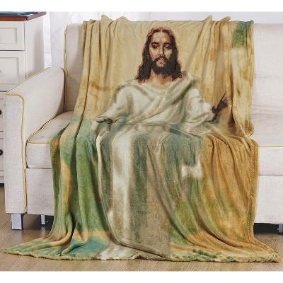 "Super Soft Oversized Microplush Religious Christian Themed 50"" x 70"" Throw Blanket"