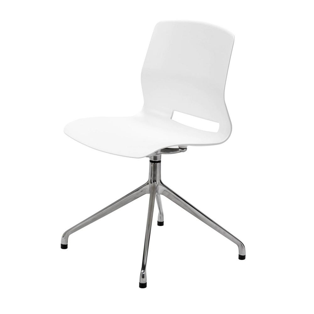 Lola Post Swivel Office Chair White - Olio Designs