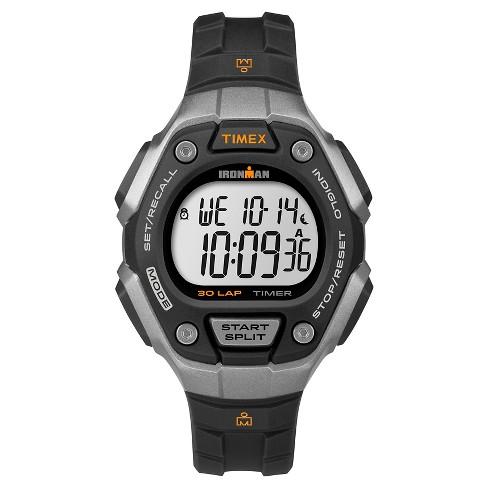 Women's Timex Ironman Classic 30 Lap Digital Watch - Black/Silver TW5K89200JT - image 1 of 1