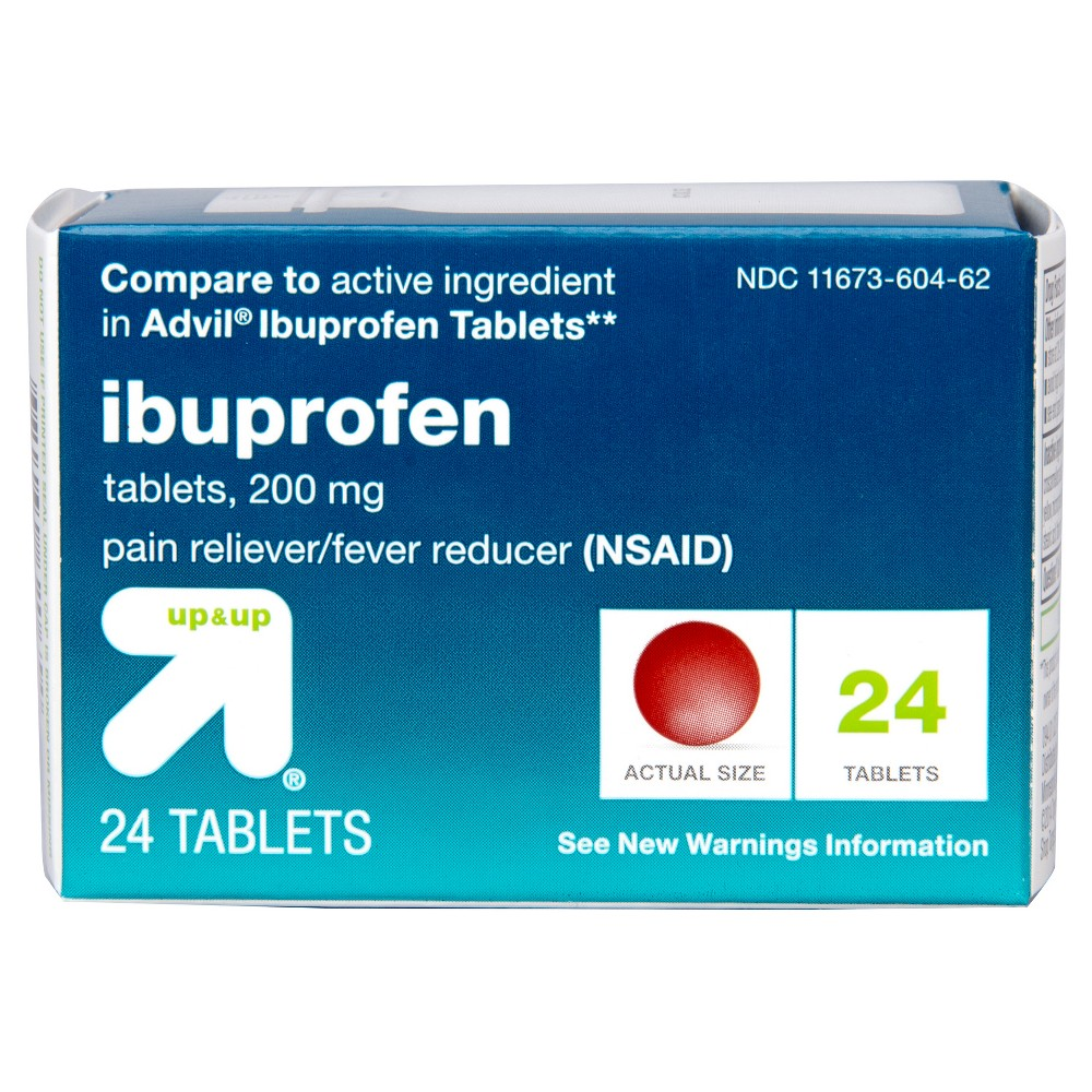 Ibuprofen (Nsaid) Pain Reliever & Fever Reducer Tablets - 24ct - Up&Up