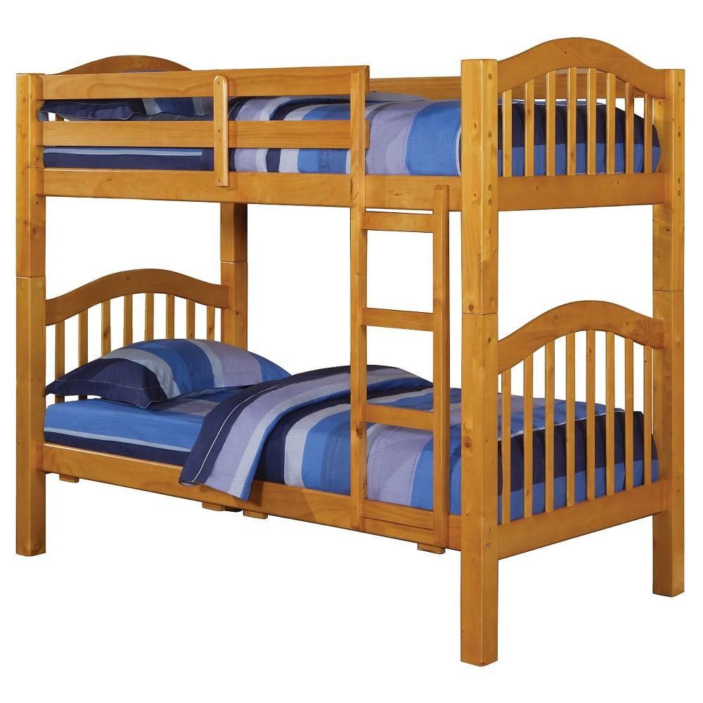 Heartland Kids Bunk Bed - Honey Oak (Brown)(Twin/Twin) - Acme