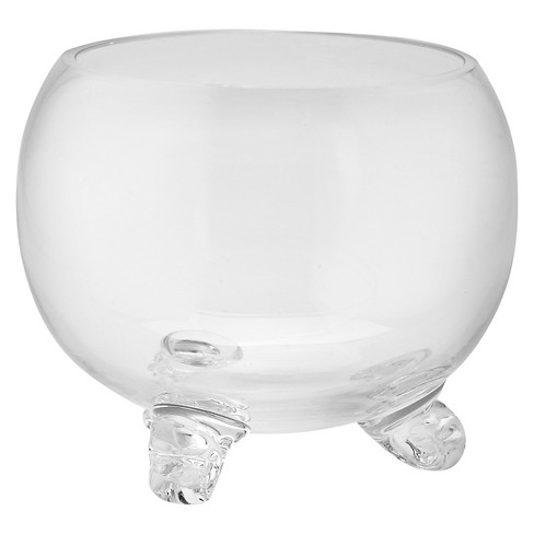 "Diamond Star Glass Bowl with Feet Clear (6""x7"") - image 1 of 1"