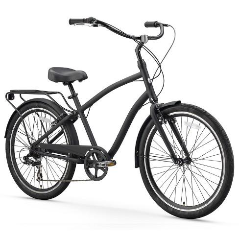 "Sixthreezero EVRYjourney Men's 26"" Seven Speed Sport Hybrid Cruiser Bicycle - Matte Black - image 1 of 8"