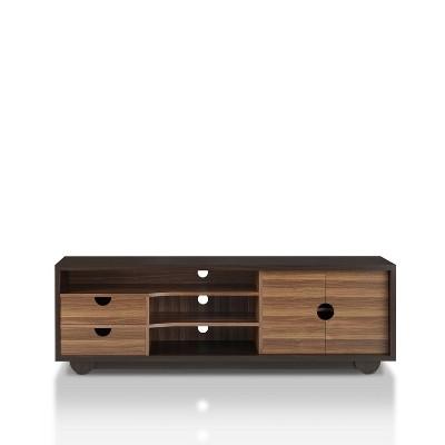 "63"" Jubu Open Shelf TV Stand Wenge - miBasics"