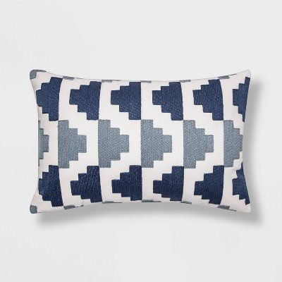 Embroidered Modern Pattern Lumbar Throw Pillow - Project 62™