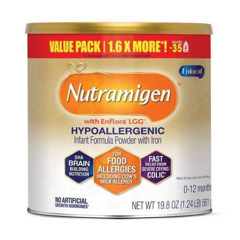 Enfamil Nutramigen with Enflora LGG Infant Hypoallergenic Formula Powder - 19.8oz - image 1 of 4