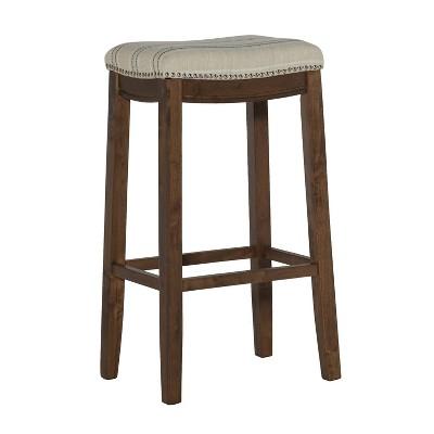 Claridge Rustic Backless Barstool - Linon