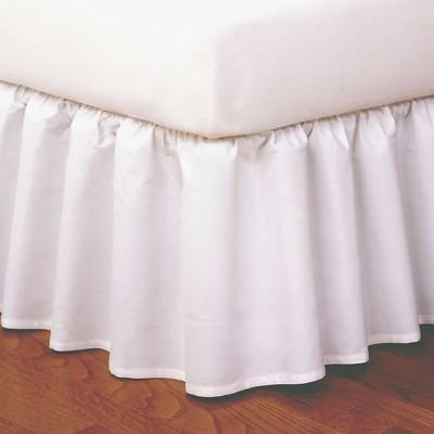 Magic Skirt Wrap-around Ruffled Bed Skirt - White (King)