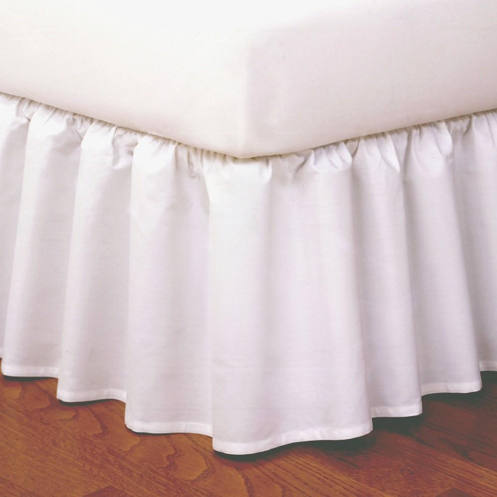 Image of Magic Skirt Wrap-around Ruffled Bed Skirt - White (King)