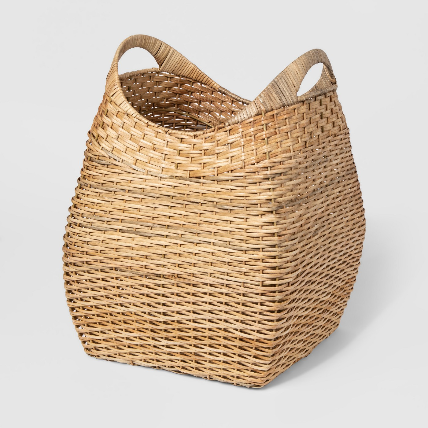 "19.75""x15.75"" Large Basket with Curved Handles Khaki - Threshold™ - image 1 of 2"