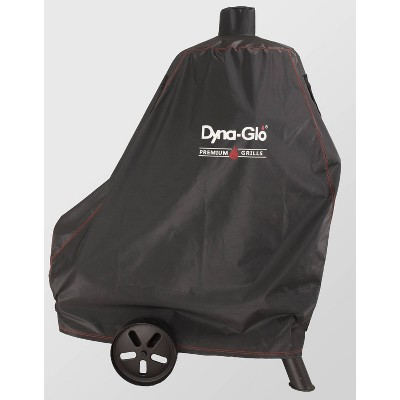 Premium Vertical Offset Charcoal Smoker Cover Black - Dyna-Glo