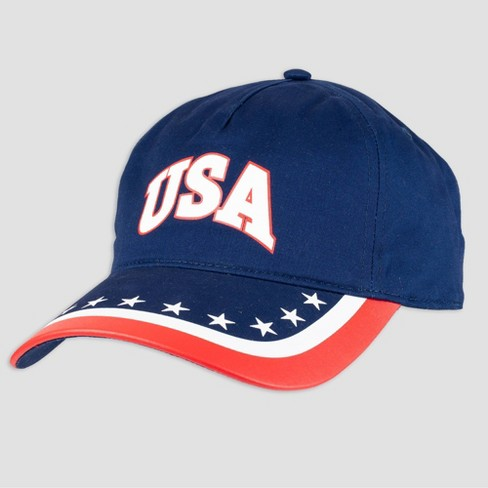 Wemco Men's USA Blue Flag Brim Baseball Hat - One Size - image 1 of 4