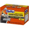 Hefty Contractor Load & Carry Extra Large Flap Tie Trash Bags - 42 Gallon - 14ct - image 2 of 3