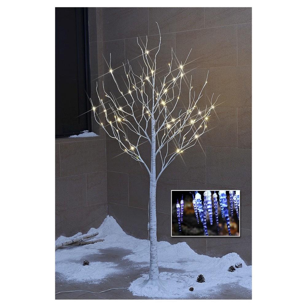 Image of Lightshare 6' LED Birch Tree Decoration Light - Warm White Lights