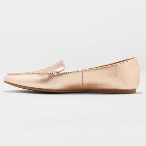 844c79aaa24a Women s Micah Pointed Toe Closed Loafers - A New Day™ Rose Gold   Target