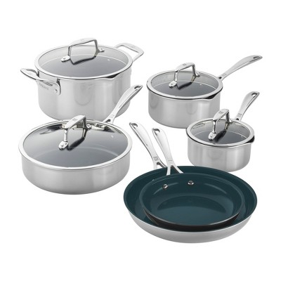 ZWILLING Clad CFX Stainless Steel Ceramic Nonstick Cookware Set