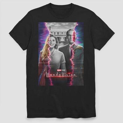 Men's Marvel Wandavision Teaser Poster Short Sleeve Graphic Crewneck T-Shirt - Black