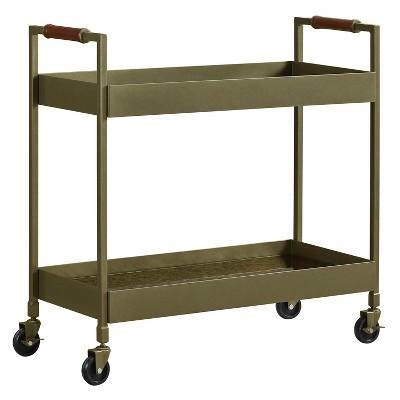 Clyde Bar Cart Brass Finish - Dorel Living