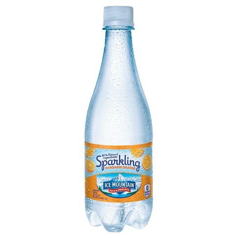 5c4bd4cfc6 Ice Mountain Brand Sparkling Natural Spring Water Mandarin Orange - 6pk/16.9  Fl Oz Bottles : Target