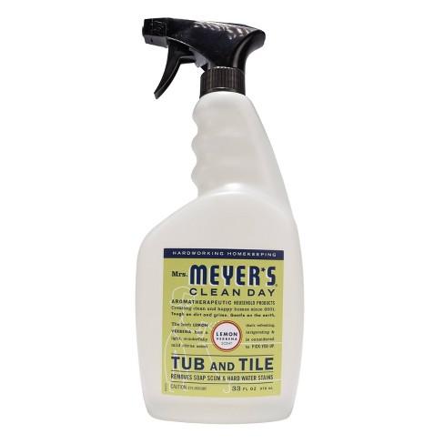 Mrs. Meyer's Lemon Verbena Tub and Tile Spray Cleaner - 33 fl oz - image 1 of 4
