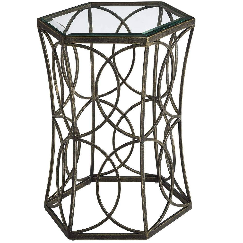 "Image of ""19.5"""" Circle Side Table Gold - Modway"""