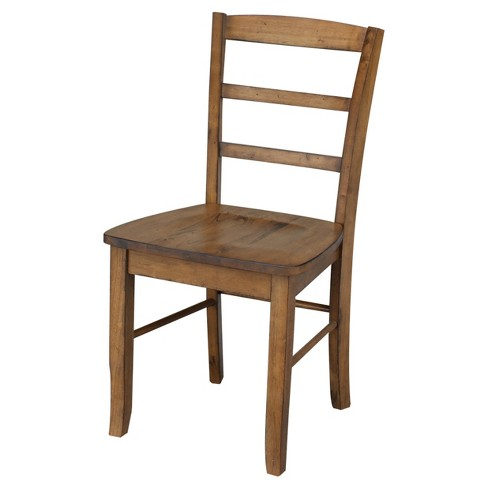 Set of 2 Madrid Ladderback Chair Pecan - International Concepts - image 1 of 4