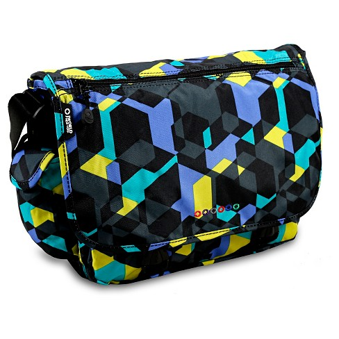 J World Terry Messenger Bag - Cubes - image 1 of 1