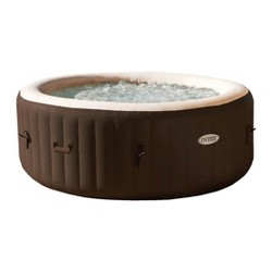 Intex PureSpa Bubble Massage 4 Person Inflatable Hot Tub Spa with Soothing Jets