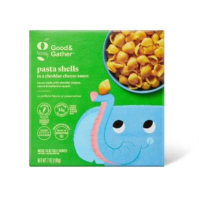 Frozen Pasta Shells in Cheddar Cheese Sauce - 7oz - Good & Gather™