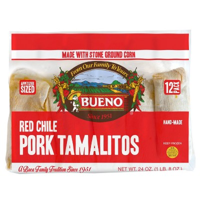 Bueno Frozen Pork Tamalitos - 24oz