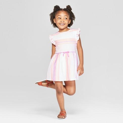 Toddler Girls' A-Line Dress - Cat & Jack™ Light Pink - image 1 of 5