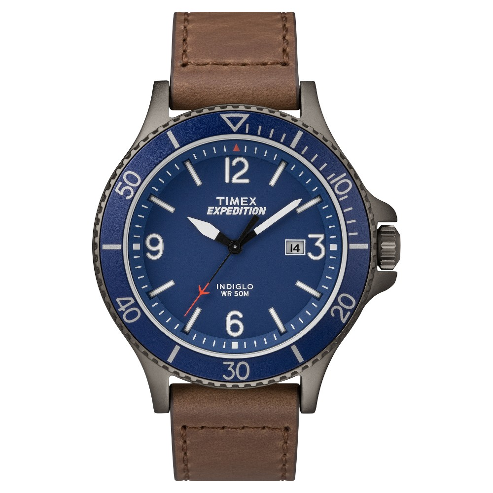 Men's Timex Expedition Ranger Watch with Leather Strap - Gray/Brown TW4B10700JT