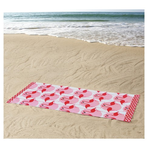 Clairebella Diamond Chevron Beach Towels Flamingo Target