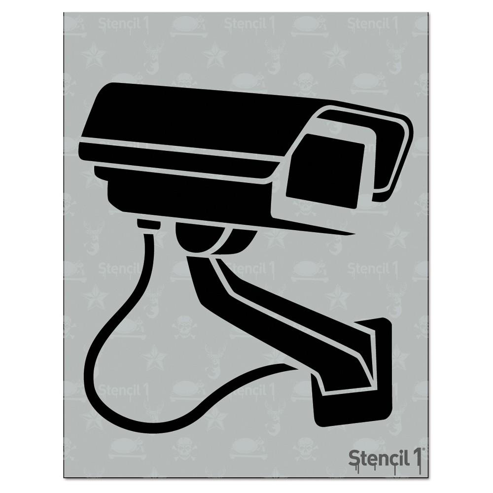 "Image of ""Stencil1 Surveillance Camera - Stencil 8.5"""" x 11"""""""