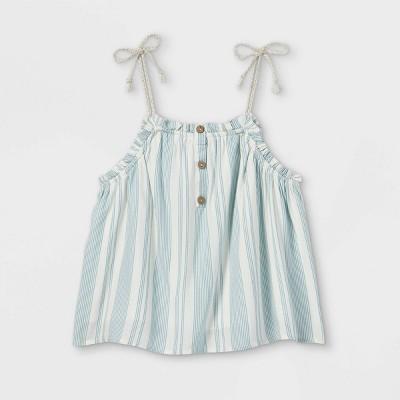 Girls' Button-Front Babydoll Tank Top - art class™
