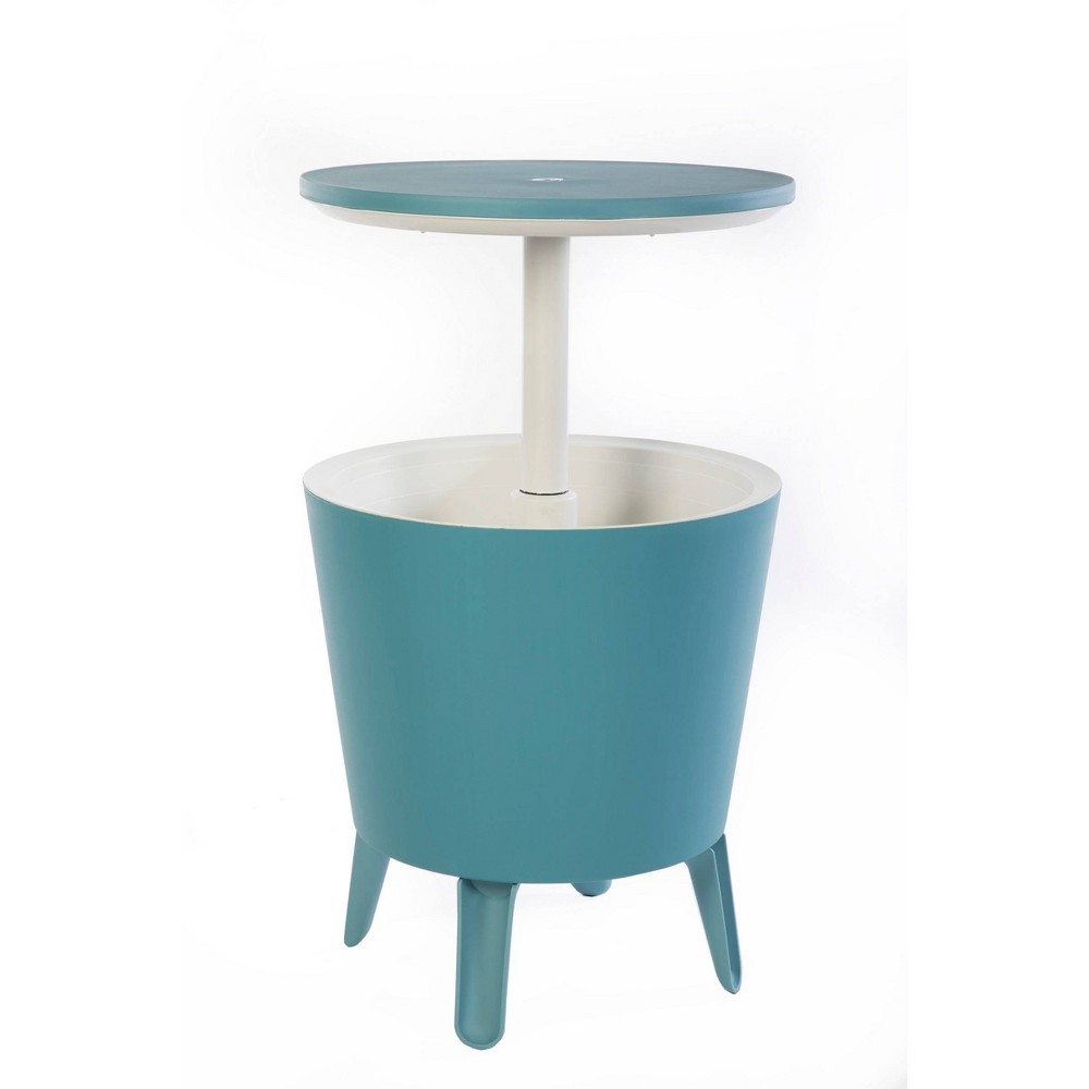 Image of Cool Bar Cooler Bar Table - Teal - Keter, Blue