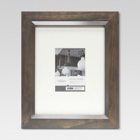 "11""x14"" Frame Holds 5x""7"" Image With Silver Inner Gray Wash - Threshold™ - image 1 of 1"