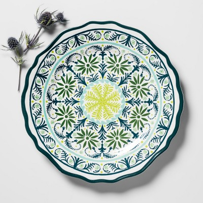 Melamine Salad Plate 8.4  Blue/Green Medallion - Opalhouse™
