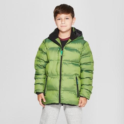 b31275ac0 Boys  Puffer Jacket - C9 Champion® Green   Target