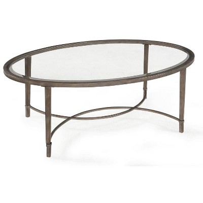 Magnussen Home Furnishings T2114 Copia Brushed Metal Oval Cocktail Table - Magnussen Home Furnishings