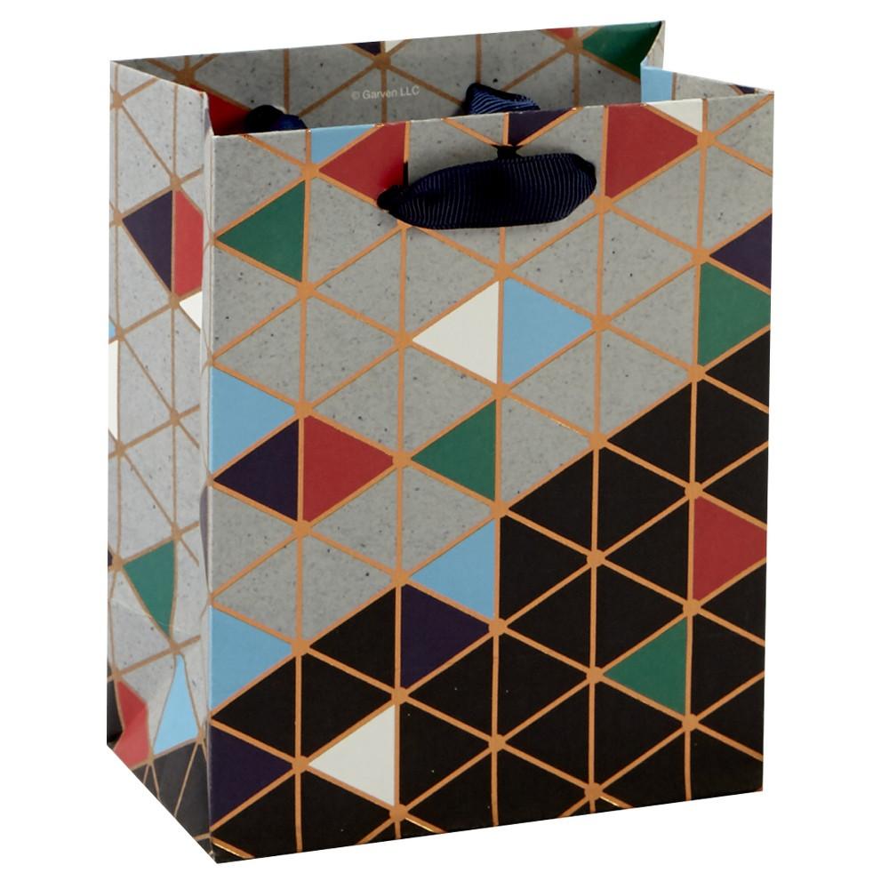 Image of Triangles Petite Cub Gift Bag - Spritz, Multi-Colored
